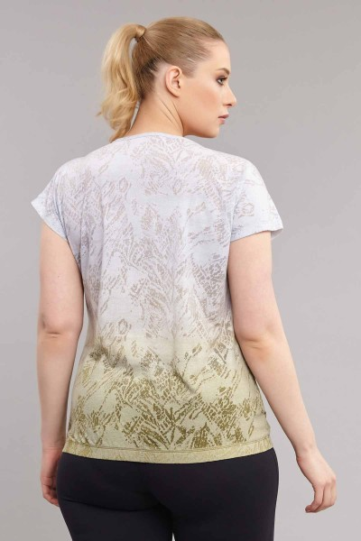 BİLCEE - Bilcee Büyük Beden Kadın Pamuk/Poly T-Shirt ES-3586 (1)