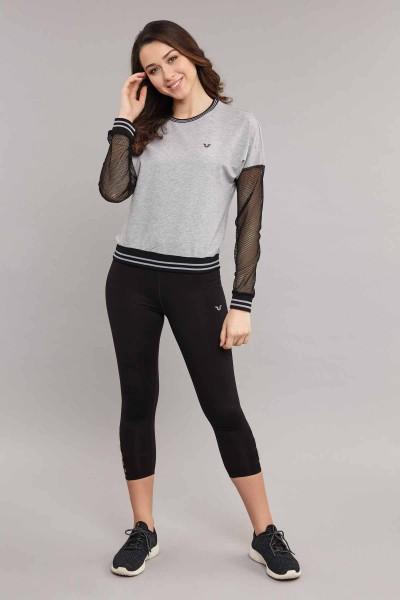 BİLCEE - Bilcee Viskon Kadın Sweatshirt ES-3587 (1)