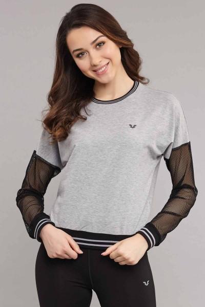 BİLCEE - Bilcee Kadın Viskon Sweatshirt ES-3587