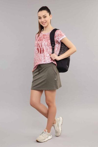 BİLCEE - Bilcee Kadın Pamuk/Poly T-Shirt ES-3592 (1)