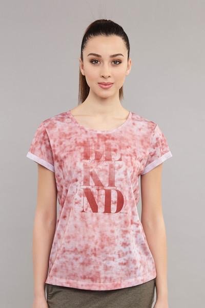 BİLCEE - Bilcee Pembe Pamuk/Poly Kadın T-Shirt ES-3592