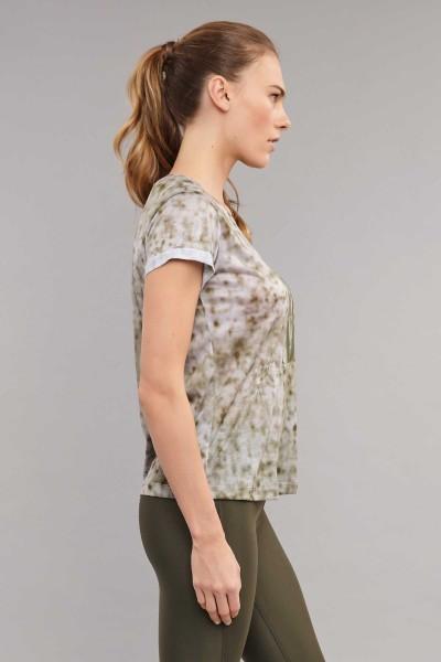 BİLCEE - Bilcee Kahverengi Pamuk/Poly Kadın T-Shirt ES-3592 (1)
