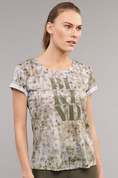 BİLCEE - Bilcee Kahverengi Pamuk/Poly Kadın T-Shirt ES-3592