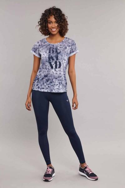 BİLCEE - Bilcee Lacivert Pamuk/Poly Kadın T-Shirt ES-3592 (1)