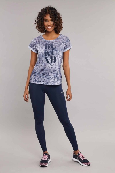 BİLCEE - Bilcee Lacivert Kadın T-Shirt ES-3592 (1)