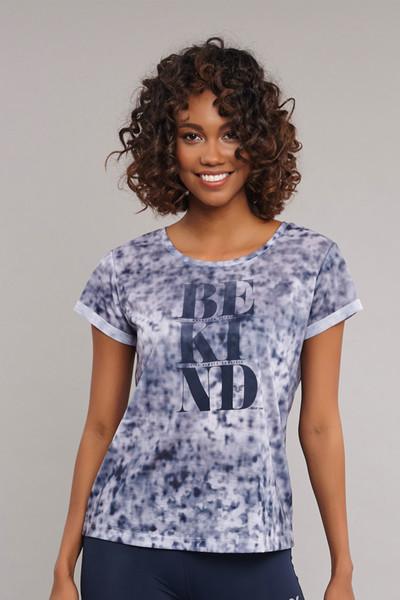 BİLCEE - Bilcee Lacivert Pamuk/Poly Kadın T-Shirt ES-3592