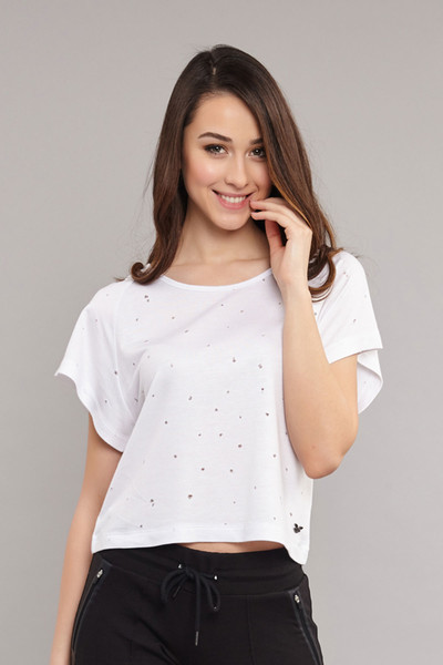 BİLCEE - Bilcee Kadın Viskon T-Shirt ES-3598