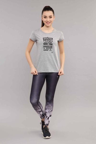 BİLCEE - Bilcee Kadın Pamuklu T-Shirt ES-3613 (1)