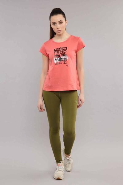 BİLCEE - Bilcee Pembe Pamuklu KadınT-Shirt ES-3613 (1)