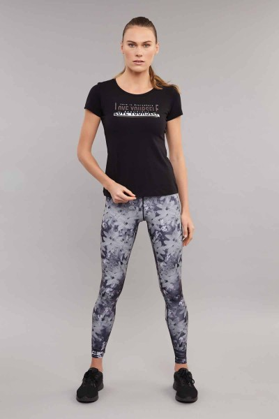 BİLCEE - Bilcee Kadın Likralı Pamuklu T-Shirt ES-3614