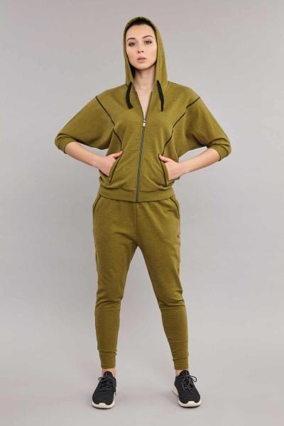 BİLCEE - Bilcee Yeşil Kadın Eşofman Takımı ES-3624