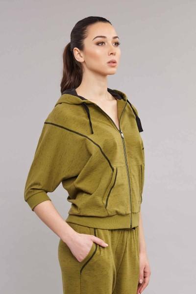 BİLCEE - Bilcee Yeşil Kadın Eşofman Takımı ES-3624 (1)