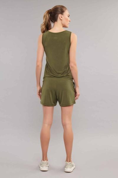 BİLCEE - Bilcee Yeşil Kadın Tulum ES-3635 (1)