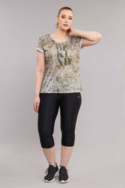 BİLCEE - Bilcee Kahverengi Büyük Beden Kadın Antrenman T-Shirt ES-3636 (1)