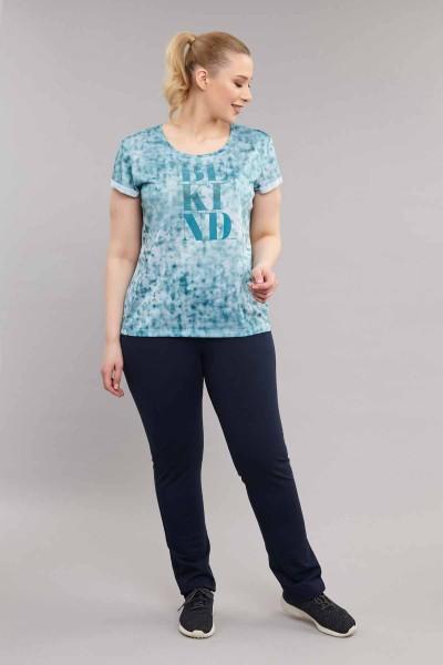 BİLCEE - Bilcee Mavi Büyük Beden Kadın Antrenman T-Shirt ES-3636 (1)