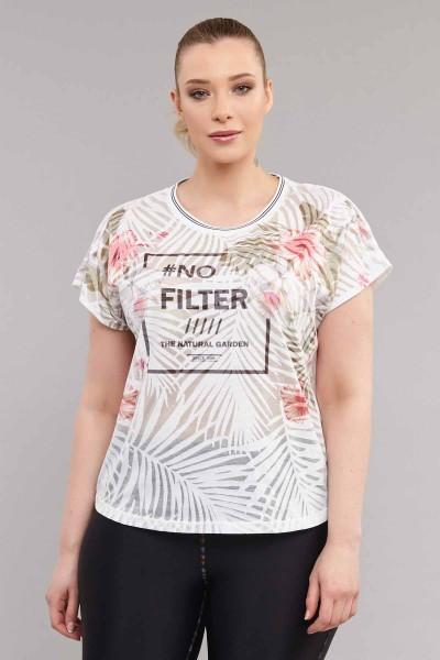 BİLCEE - Bilcee Büyük Beden Kadın T-Shirt ES-3637