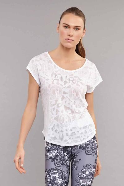 BİLCEE - Bilcee Beyaz Pamuk/Poly Kadın T-Shirt ES-3639