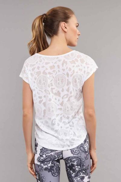 BİLCEE - Bilcee Beyaz Pamuk/Poly Kadın T-Shirt ES-3639 (1)