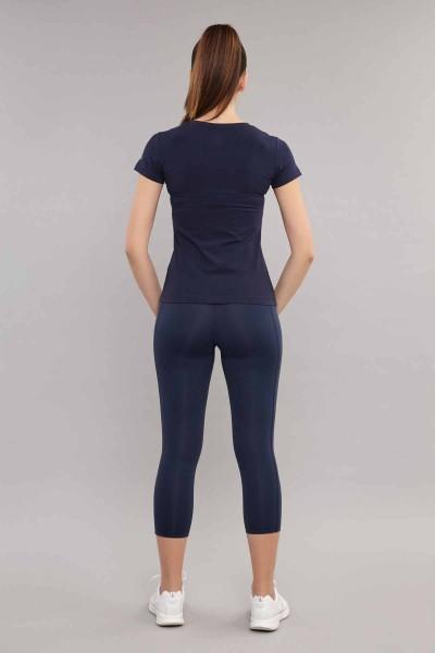BİLCEE - Bilcee Kadın Likralı Pamuklu T-Shirt ES-3701 (1)