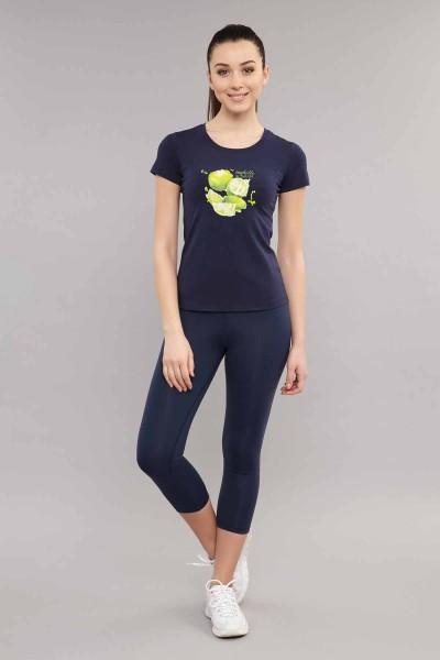 BİLCEE - Bilcee Lacivert Kadın T-Shirt ES-3701 (1)