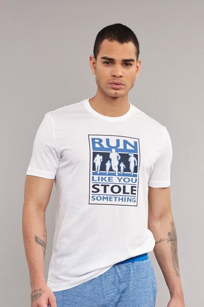 BİLCEE - Bilcee Beyaz Pamuklu Erkek T-Shirt ES-3806