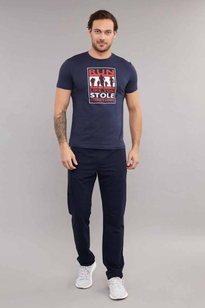 BİLCEE - Bilcee Lacivert Pamuklu Erkek T-Shirt ES-3806 (1)