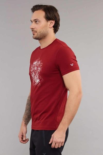 BİLCEE - Bilcee Bordo Likralı Pamuklu Erkek T-Shirt ES-3840 (1)
