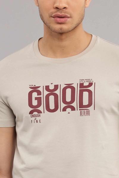 BİLCEE - Bilcee Krem Pamuklu Erkek T-Shirt ES-3841 (1)