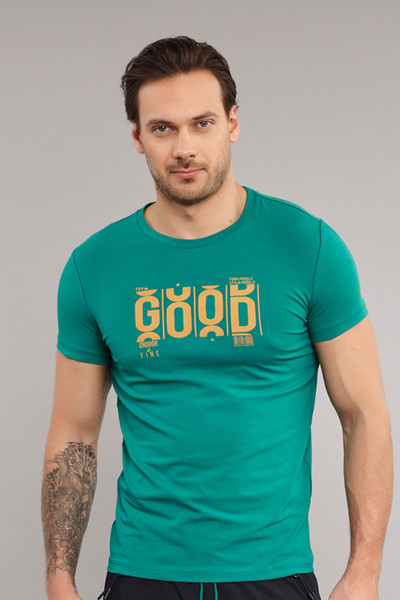BİLCEE - Bilcee Pamuklu Erkek T-Shirt ES-3841