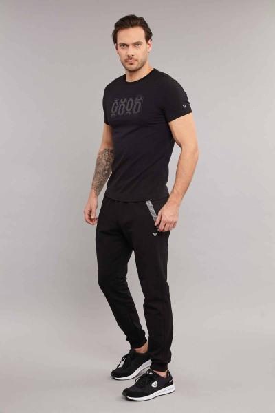 BİLCEE - Bilcee Siyah Pamuklu Erkek T-Shirt ES-3841 (1)
