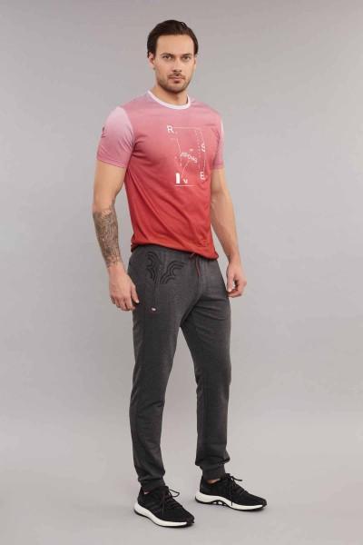 BİLCEE - Bilcee Pembe Pamuk/Polye Erkek T-Shirt ES-3855 (1)