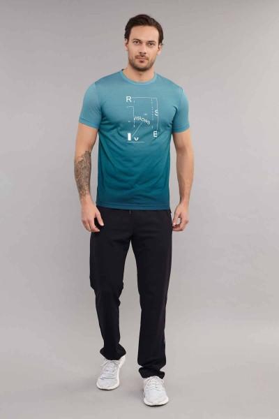 BİLCEE - Bilcee Mavi Erkek T-Shirt ES-3855 (1)