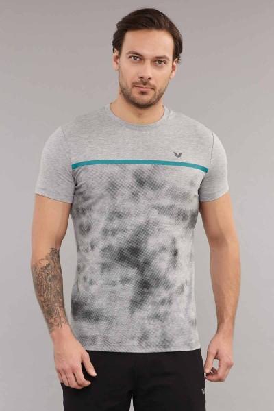 BİLCEE - Bilcee Gri Pamuklu Erkek T-Shirt ES-3871