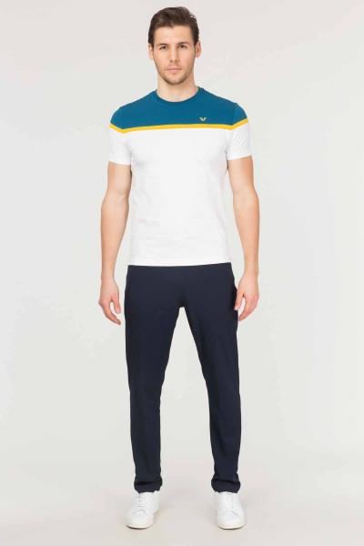 BİLCEE - Bilcee Beyaz Pamuklu Erkek T-Shirt ES-3872 (1)