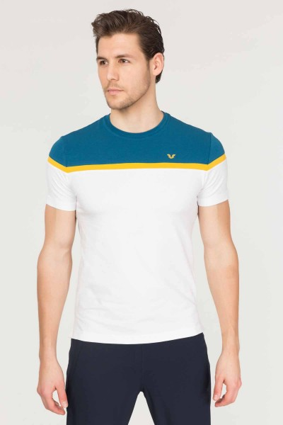 BİLCEE - Bilcee Beyaz Pamuklu Erkek T-Shirt ES-3872