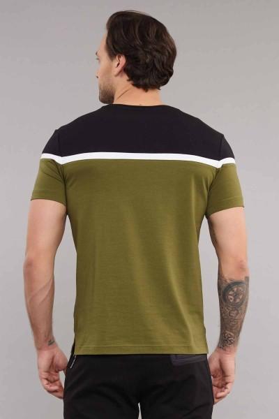 BİLCEE - Bilcee Yeşil Pamuklu Erkek T-Shirt ES-3872 (1)