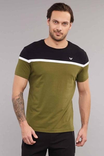 BİLCEE - Bilcee Yeşil Pamuklu Erkek T-Shirt ES-3872