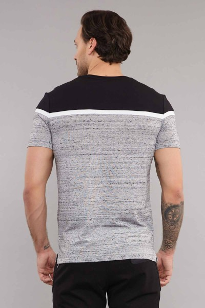 BİLCEE - Bilcee Gri Pamuklu Erkek T-Shirt ES-3872 (1)