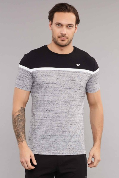BİLCEE - Bilcee Gri Pamuklu Erkek T-Shirt ES-3872