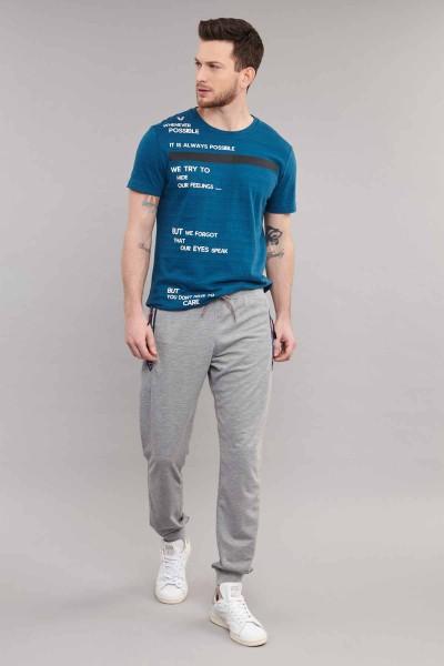 BİLCEE - Bilcee Mavi Pamuklu Erkek T-Shirt ES-3875 (1)