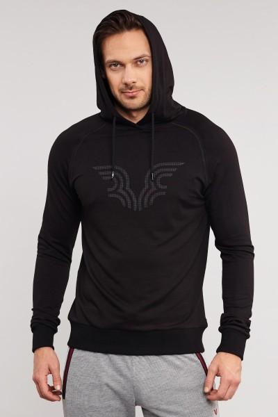 BİLCEE - Bilcee Siyah Erkek Sweatshirt ES-3877