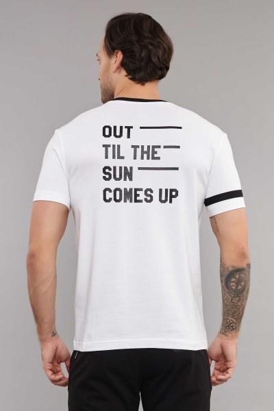 BİLCEE - Bilcee Beyaz Pamuklu Erkek T-Shirt ES-3882 (1)