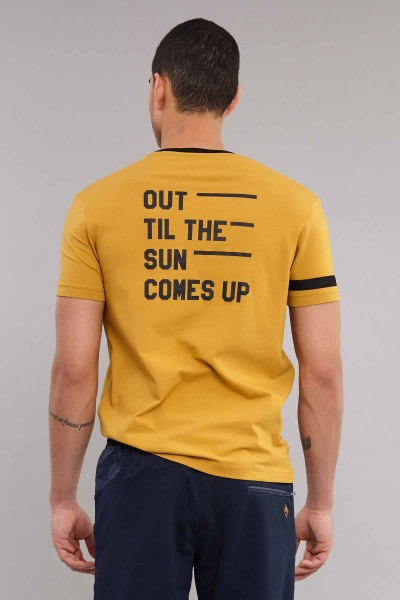 BİLCEE - Bilcee Sarı Pamuklu Erkek T-Shirt ES-3882 (1)