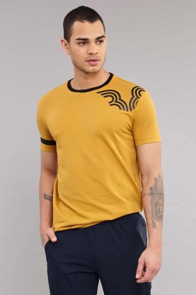BİLCEE - Bilcee Sarı Pamuklu Erkek T-Shirt ES-3882
