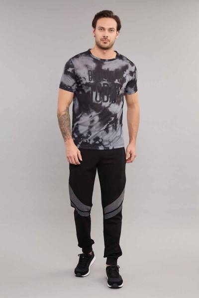 BİLCEE - Bilcee Siyah Erkek T-Shirt ES-3885 (1)