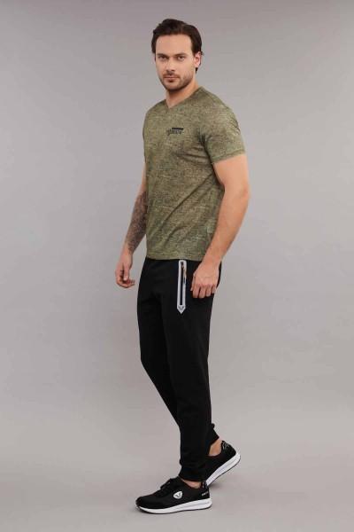 BİLCEE - Bilcee Gri Erkek Antrenman T-Shirt ES-3894 (1)