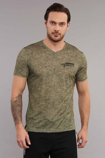 BİLCEE - Bilcee Gri Erkek Antrenman T-Shirt ES-3894