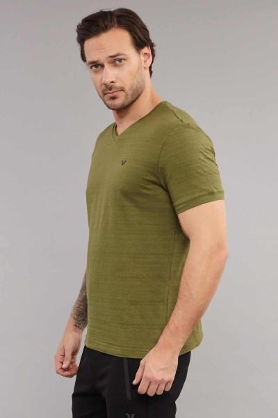BİLCEE - Bilcee Yeşil Pamuklu Erkek T-Shirt ES-3904 (1)