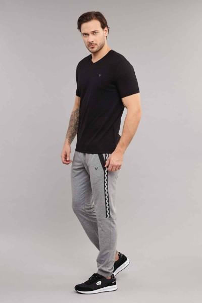 BİLCEE - Bilcee Siyah Pamuklu Erkek T-Shirt ES-3904 (1)
