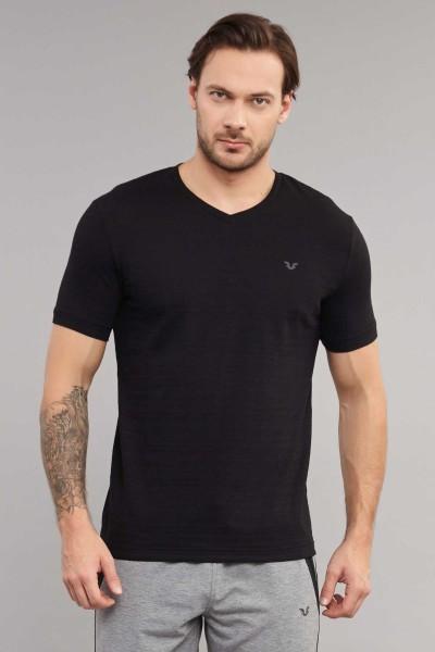 BİLCEE - Bilcee Siyah Pamuklu Erkek T-Shirt ES-3904